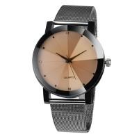 Дамски модерен, стоманен, кристален часовник black