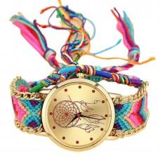 Дамски часовник ръчно плетена каишка